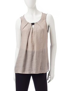 Double Click Taupe Shirts & Blouses Tees & Tanks