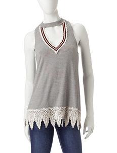 Miss Chevious Grey Shirts & Blouses