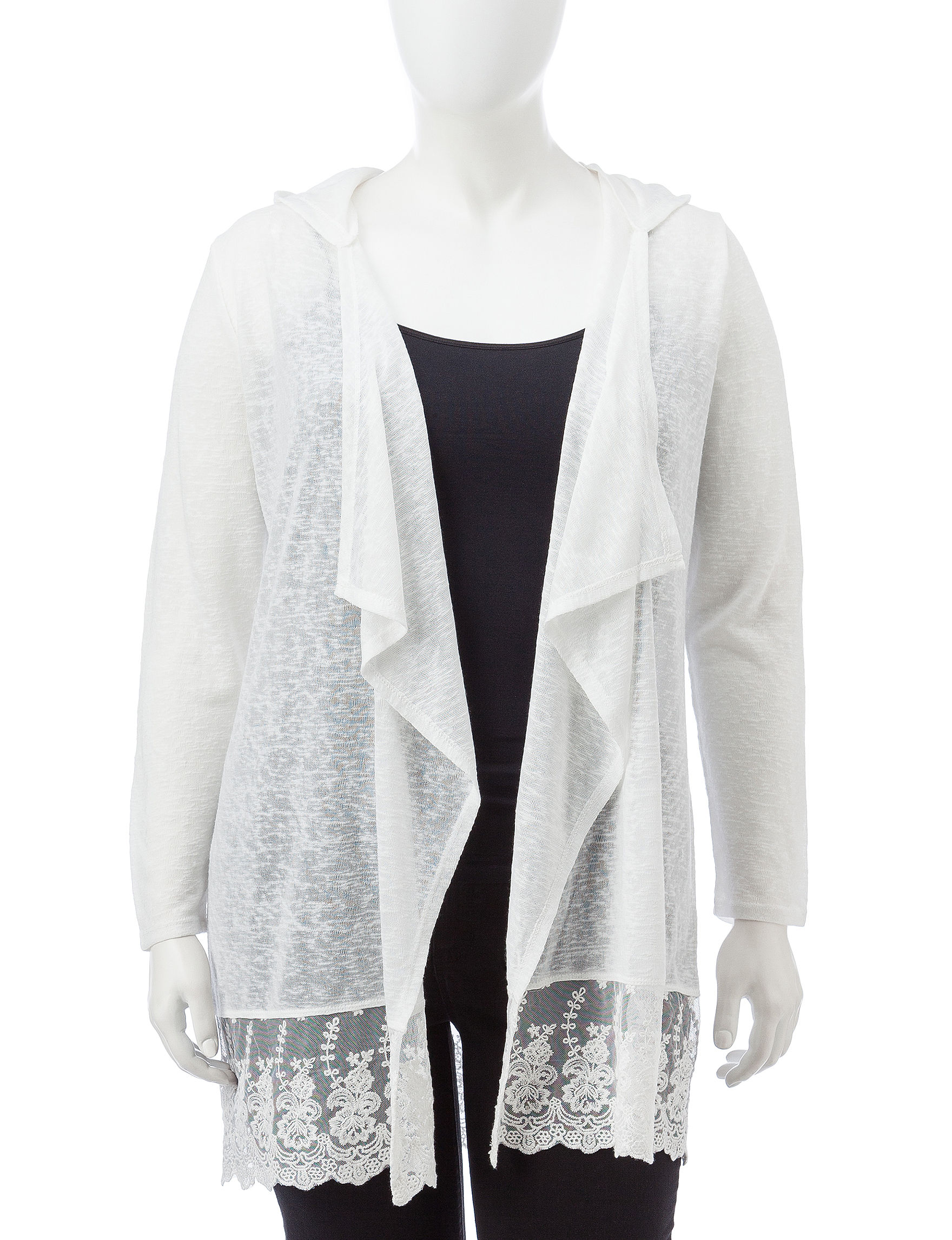 Justify Ivory Cardigans Sweaters