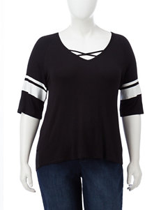 Moral Fiber Black / White Shirts & Blouses