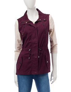 Ashley Burgundy Vests
