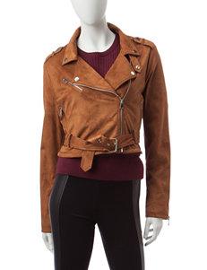 Ashley Camel Bomber & Moto Jackets