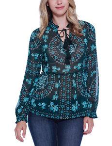Taylor & Sage Blue Shirts & Blouses