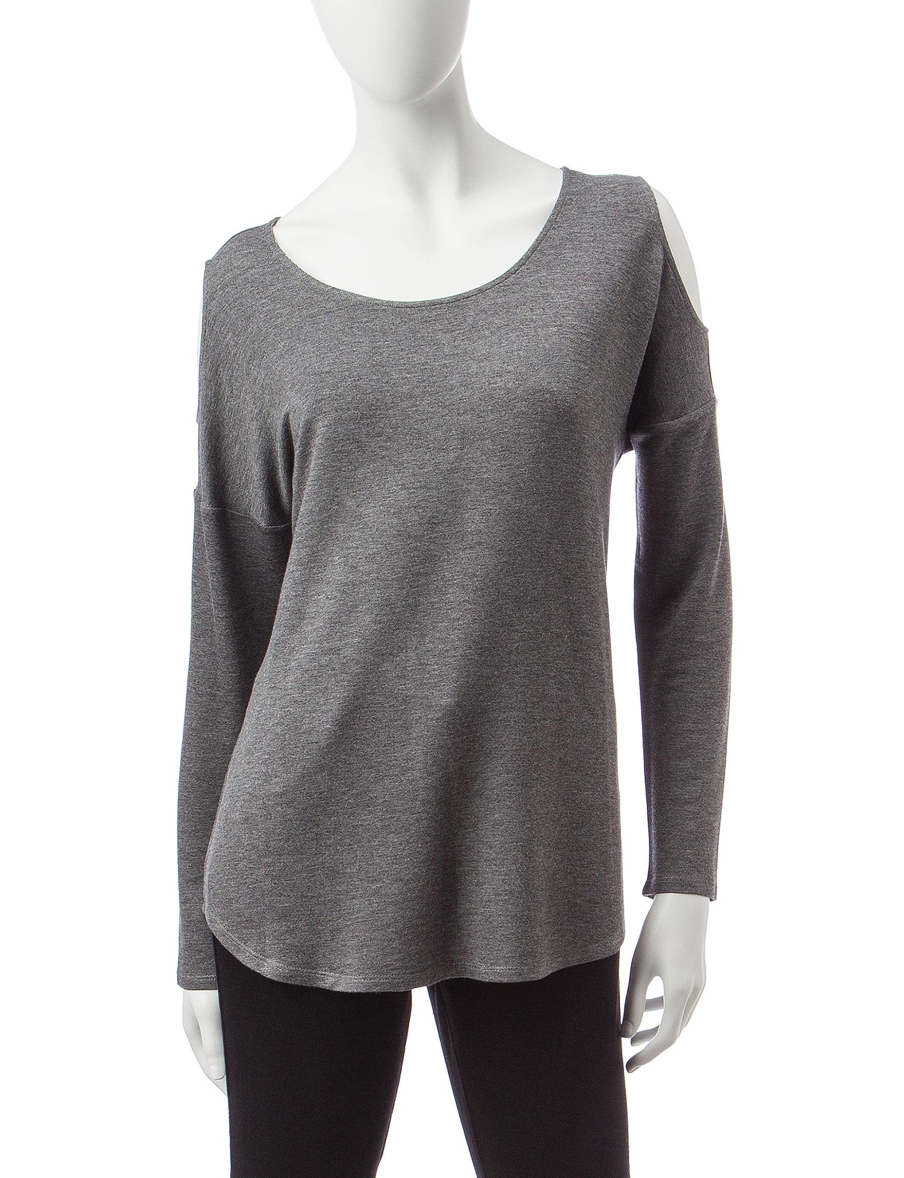 Signature Studio Charcoal Shirts & Blouses Tees & Tanks