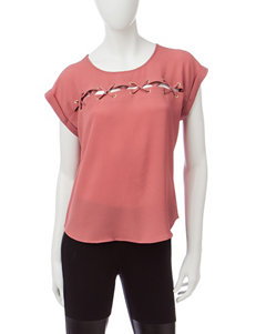 Wishful Park Lace-Up Top