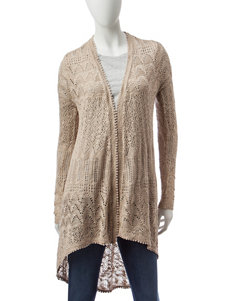 Almost Famous Beige Cardigans Sweaters