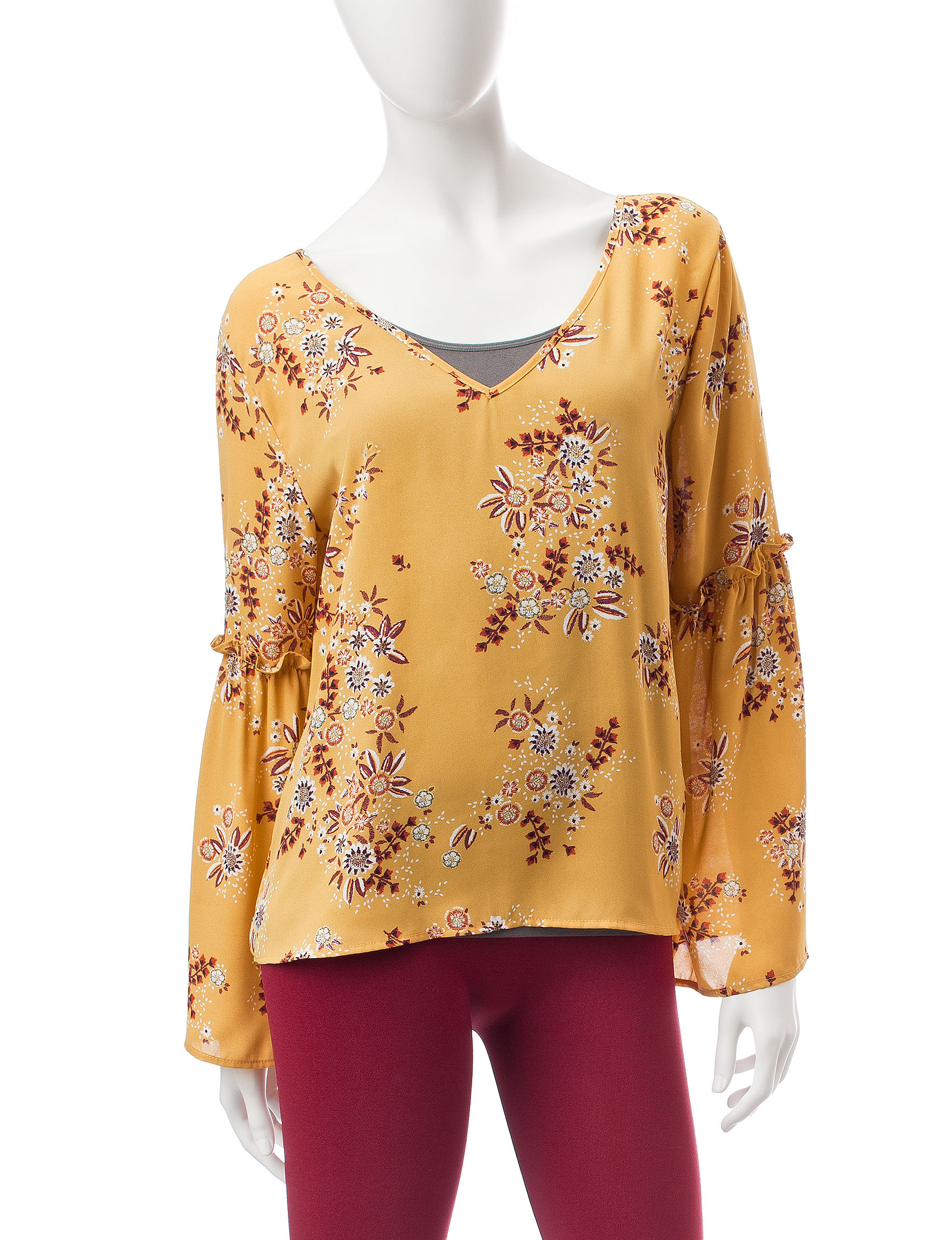 Wishful Park Dark Yellow Shirts & Blouses