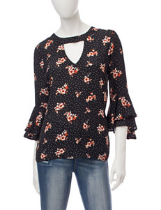 Wishful Park Ditsy Floral Ruffle Top