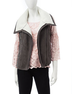 Pink Rose Grey Vests