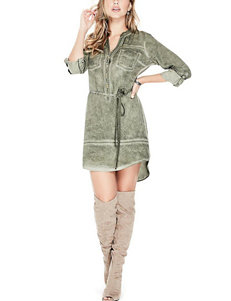 G by Guess Green Everyday & Casual Shirt Dresses