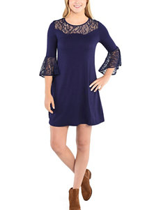 Kensie Classic Navy Shirt Dresses