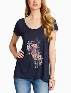 Jessica Simpson Blue Tees & Tanks