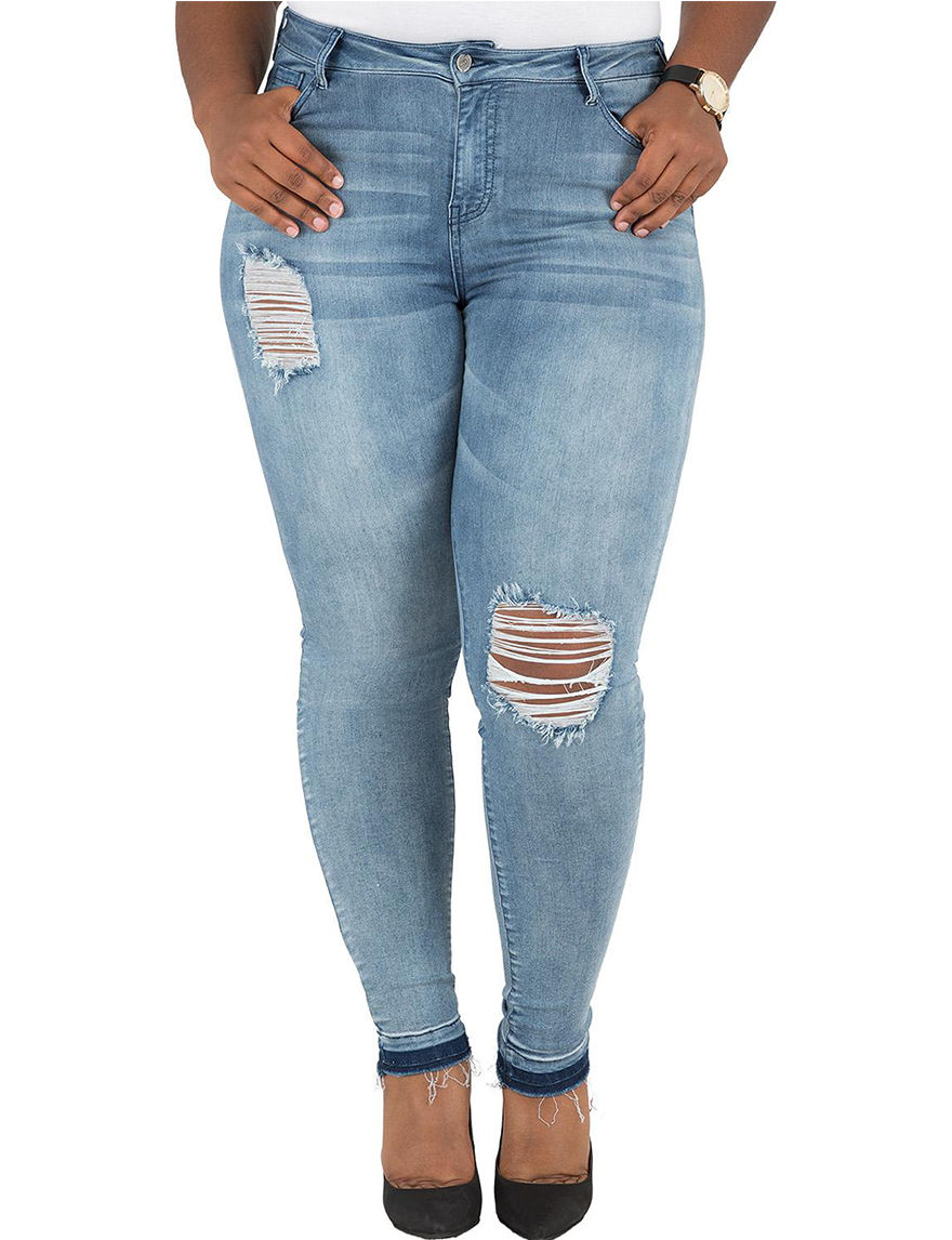 Poetic  Justice Blue Jeggings Skinny