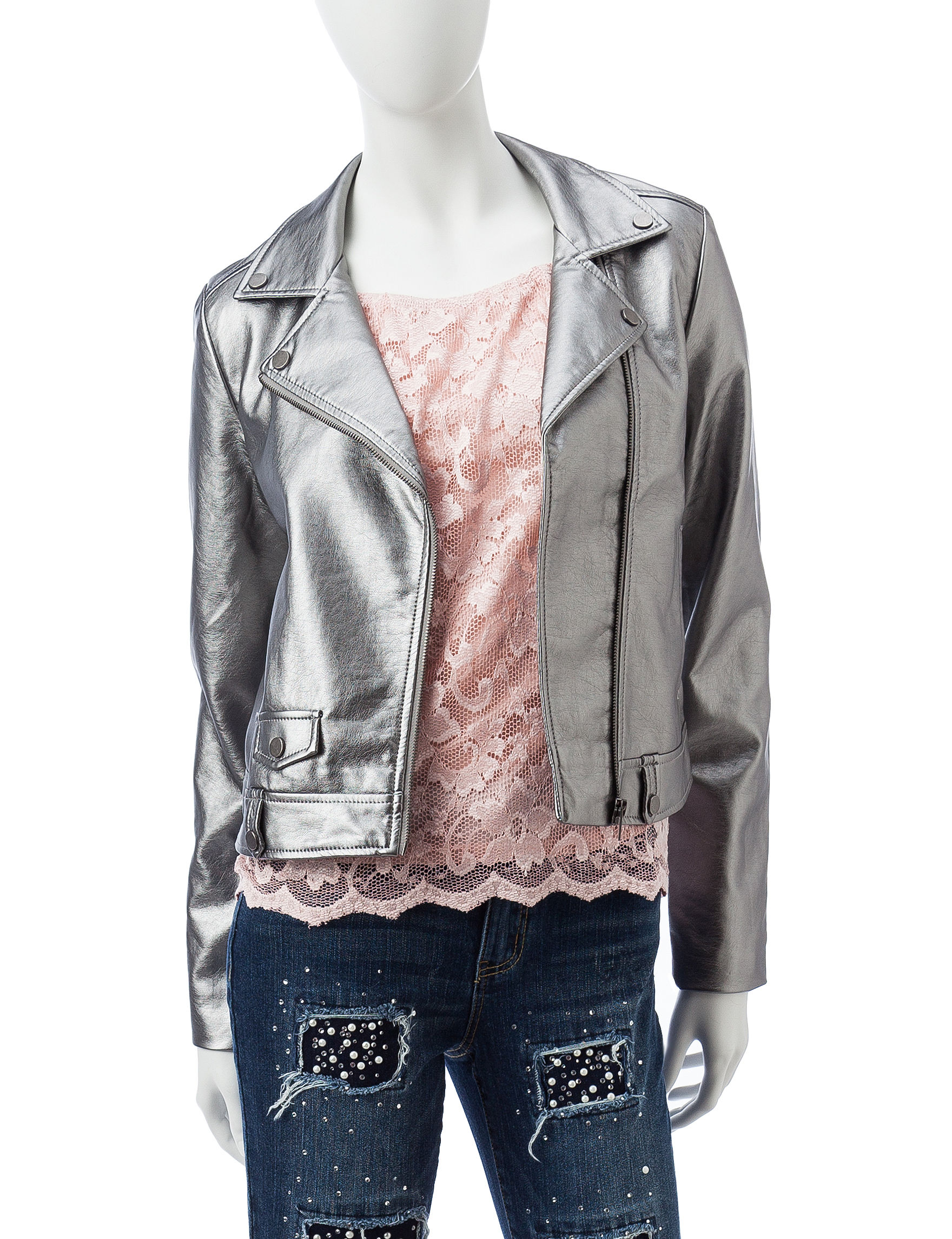 Almost Famous Silver Lightweight Jackets & Blazers