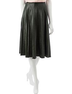 Signature Studio Pleated Faux Leather Skirt