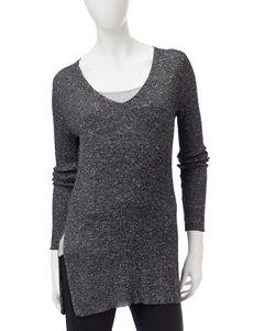 Signature Studio Black / White Shirts & Blouses Sweaters