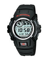 Casio G-Shock Black Rubber World Time Watch – Men's