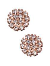 5th & Luxe Genuine Crystal Round Stud Earrings