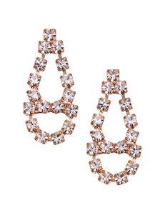 5th & Luxe Genuine Crystal Teardrop Earrings