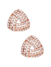 5th & Luxe Genuine Crystal Love Knot Button Earrings