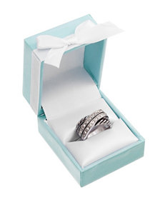 City by City Twisted Overlapped Band Ring - Gift Boxed