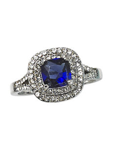 City by City Blue Double Halo Ring - Gift Boxed