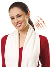 Perfect Solution White Battery Operated Heated Scarf