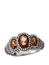 City by City Amber Crystal Ring