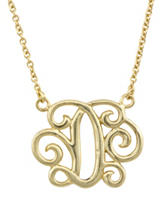 Sterling Silver Monogram Script Pendant Necklace