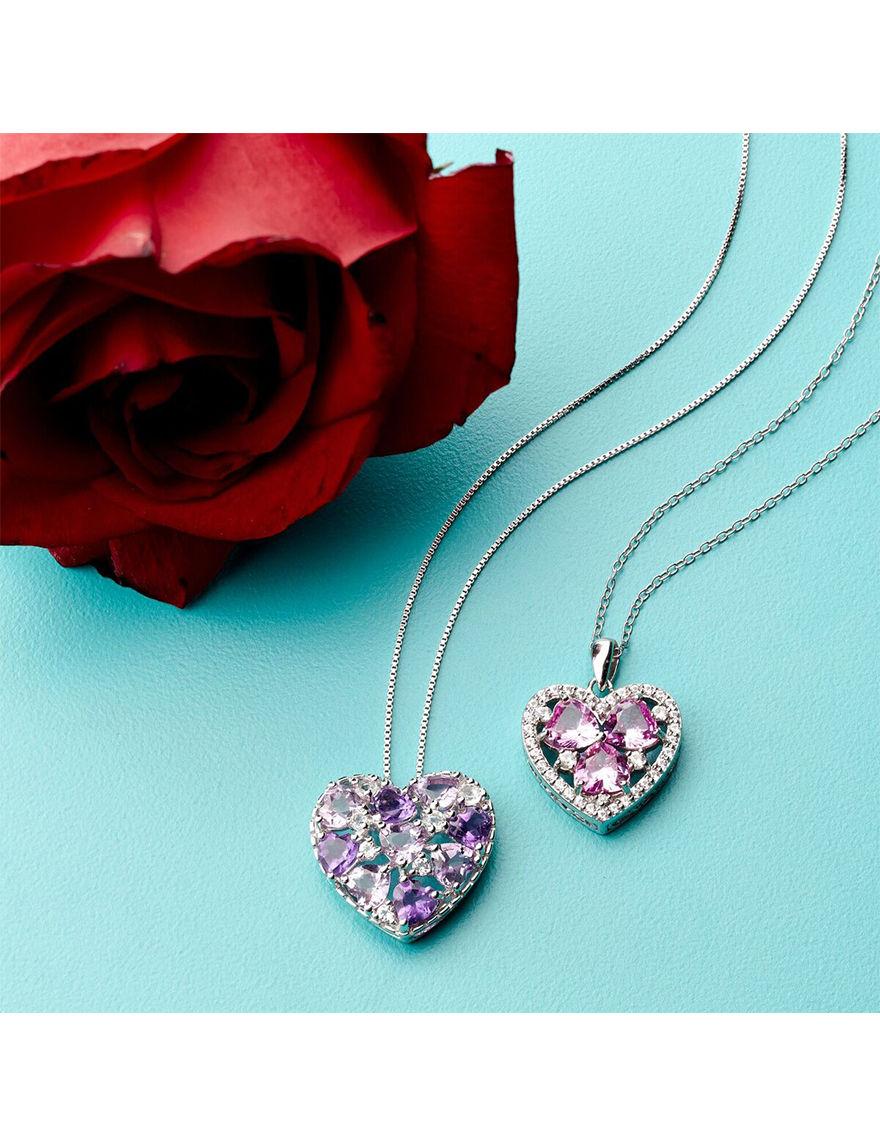 Max Color White Necklaces & Pendants Fine Jewelry