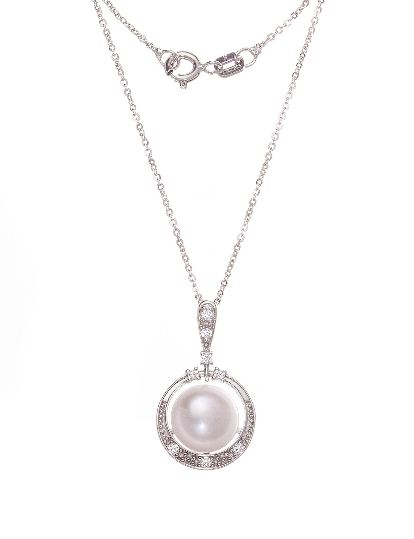 Kencraft White / Silver Necklaces & Pendants Fine Jewelry