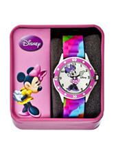 Disney Minnie Multicolor Silicone Strap Watch