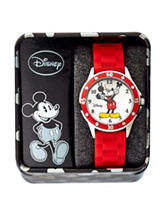 Disney Mickey Red Silicone Strap Watch