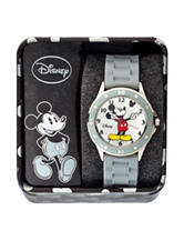 Disney Mickey Grey Silicone Strap Watch