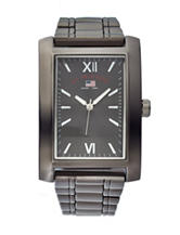 U.S. Polo Assn. Gunmetal-Tone Square Analogue Watch