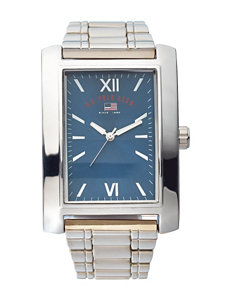 U.S. Polo Assn. Silver-Tone Square Analogue Watch