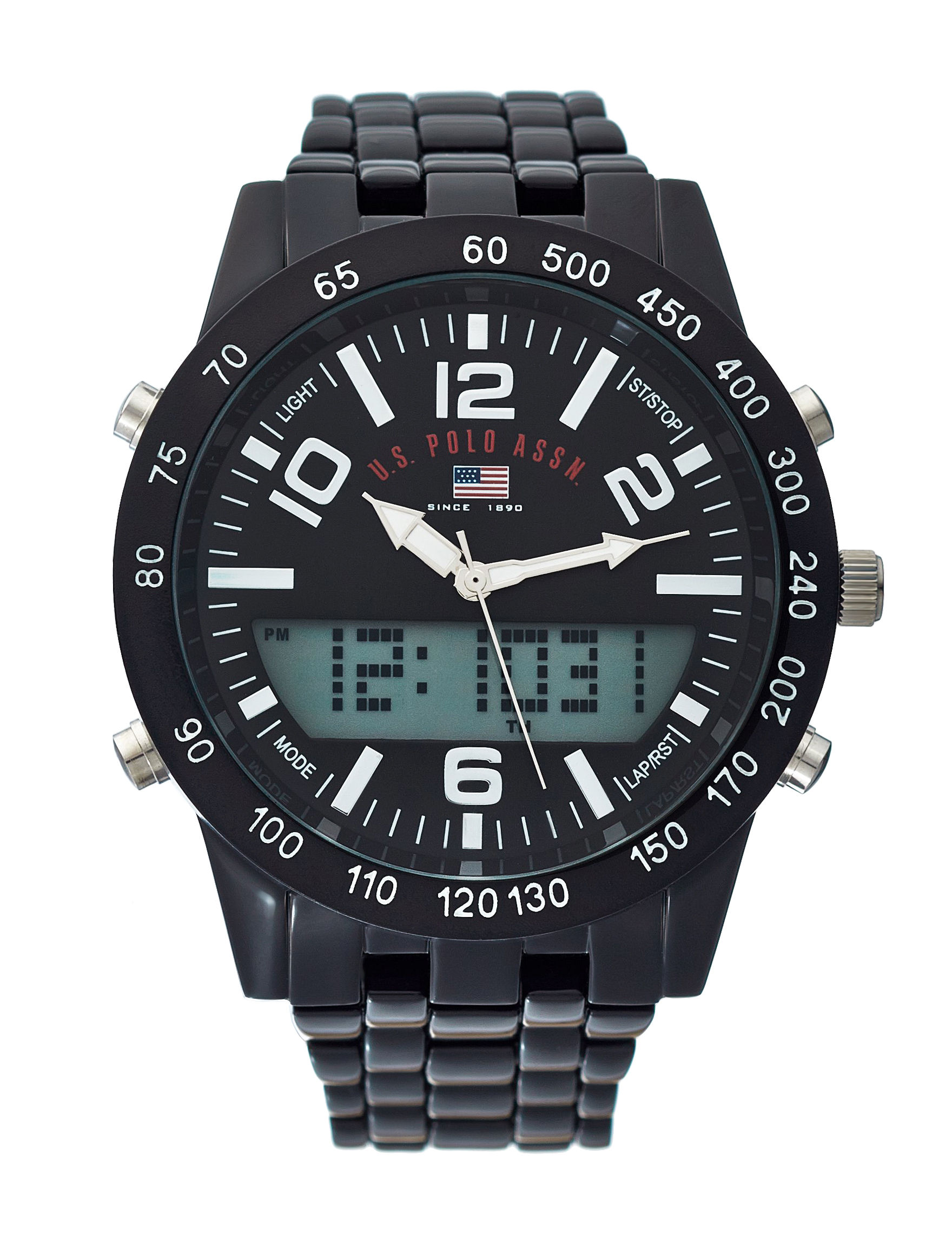 U.S. Polo Assn. Black Fashion Watches