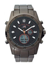 U.S. Polo Assn. Gunmetal-Tone Subdial Analog Watch