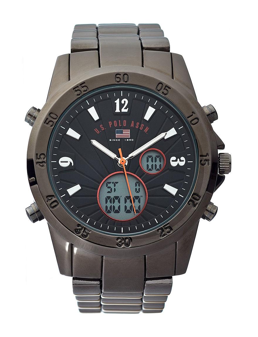 U.S. Polo Assn. Gunmetal Fashion Watches
