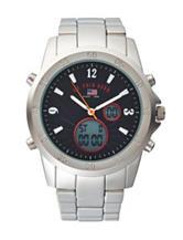 U.S. Polo Assn. Silver-Tone Subdial Analog Watch
