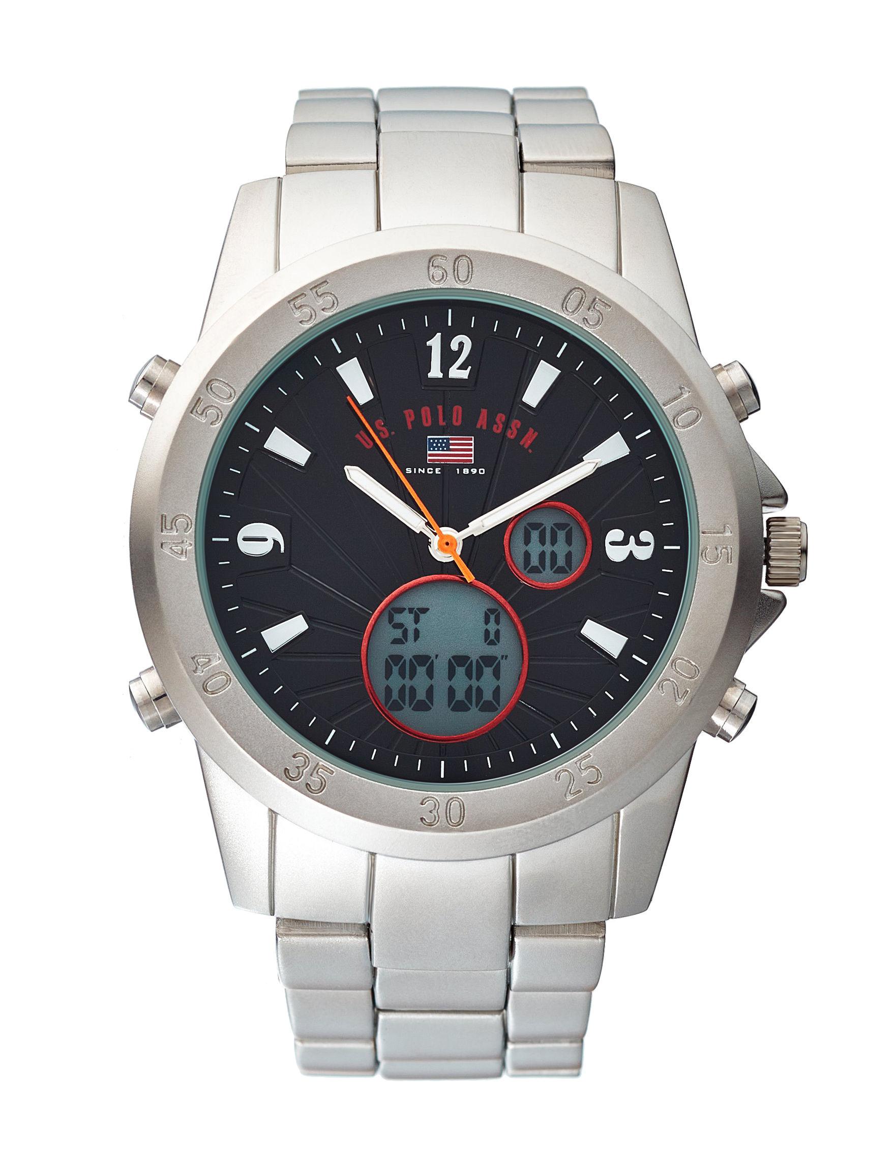 U.S. Polo Assn. Silver Fashion Watches