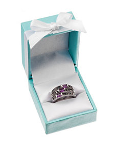 City by City Triple Band Amethyst Ring - Gift Boxed