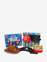 Melissa & Doug Top This! Role Play Hats – Brown & Black