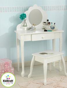 KidKraft Medium Diva Table & Stool – White