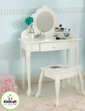 KidKraft® Medium Diva Table & Stool – White