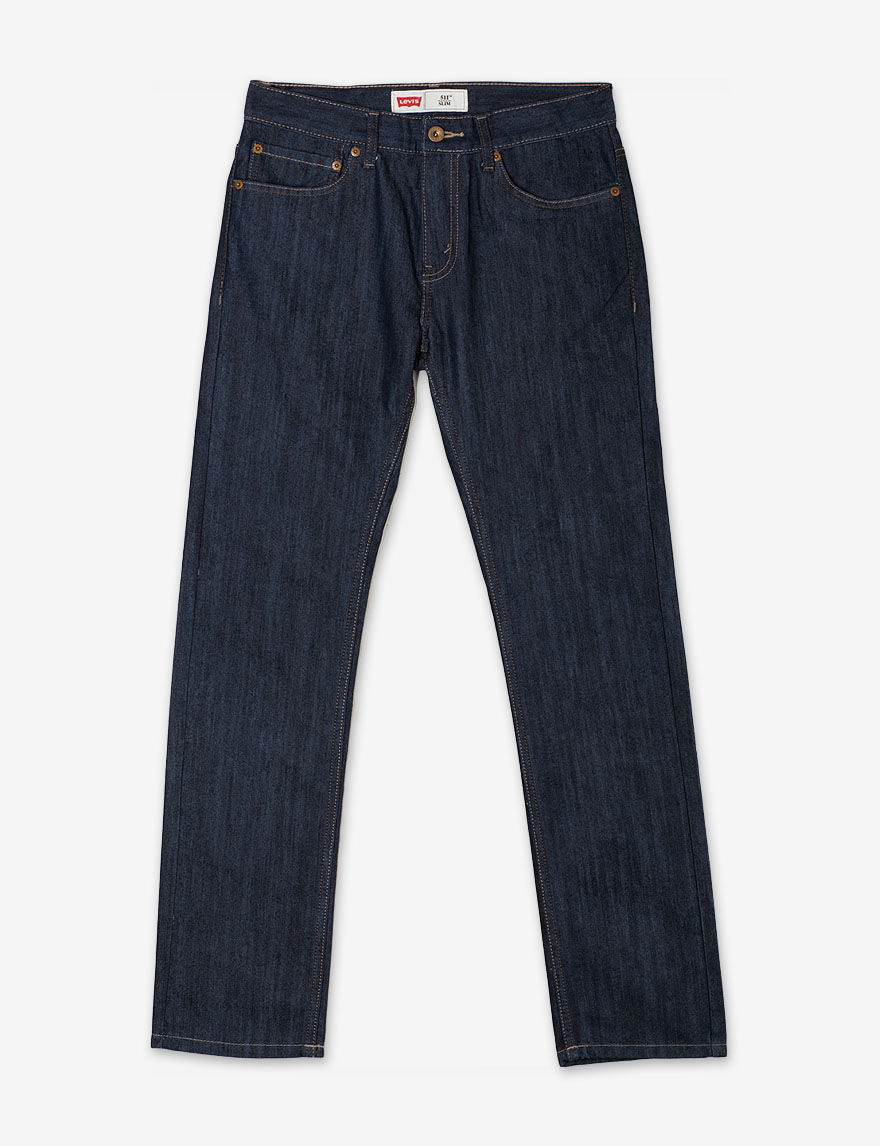 These jeans have cotton blend and comfort stretch construction that will allow him to move easily without restriction. The straight leg will fit easily over any pair of boots or shoes in his closet. He will love wearing these Wrangler jeans every chance he gets.