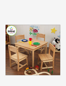 KidKraft Farmhouse Table & 4 Chairs – Natural