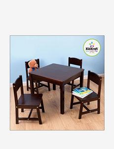 KidKraft Farmhouse Table & 4 Chairs – Espresso