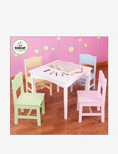 KidKraft Nantucket White Table & 4 Pastel Chairs