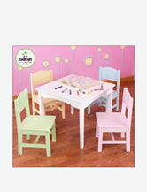 KidKraft® Nantucket White Table & 4 Pastel Chairs